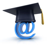 E-education. Abstract e-education on white background (done in 3d Royalty Free Stock Photos