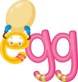 E for egg Stock Photography