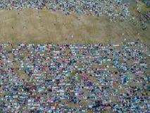 E Eid Prayers arkivbilder