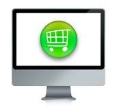 E-Einkaufen Wagen vektor abbildung