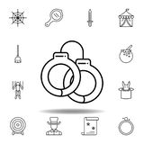 E Elemente der magischen Illustrationslinie Ikone Zeichen, Symbole können für Netz, Logo, Mobile benutzt werden stock abbildung