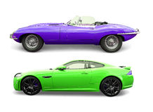 E en F-Type Jaguaren Stock Fotografie