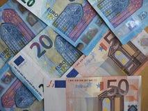 50 e 20 euro- notas, União Europeia Imagens de Stock