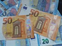 50 e 20 euro note, Unione Europea Fotografia Stock