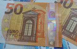 50 e 20 euro note, Unione Europea Immagine Stock Libera da Diritti