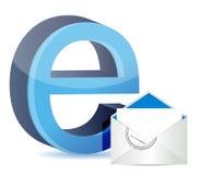 E för internet och postar Royaltyfri Fotografi