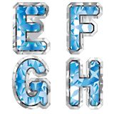 E-F g宝石h信函 向量例证