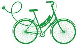 E-fiets elektrische fiets royalty-vrije illustratie