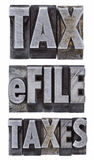 E-file taxes - tax concept Stock Photos