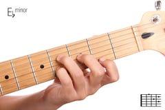 E flat minor guitar chord tutorial Royalty Free Stock Photography