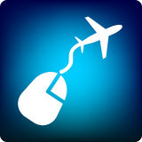 e-flyg vektor illustrationer