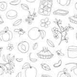 E Fondo blanco y negro de la repetici?n El hogar hizo la comida stock de ilustración