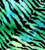 E fondo disegnato a mano dell'acquerello esotico della pelliccia dell'estratto della pelle della tigre Illustrazione dell'acquere Fotografia Stock Libera da Diritti