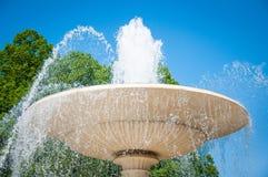E Fontaine dans le jardin de Saxon ? Varsovie photographie stock libre de droits