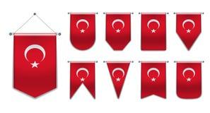 E Formes de diversité du pays de drapeau national Fanion vertical de calibre image libre de droits
