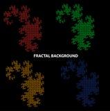 E fractal fractal Oggetti di frattale Fondo astratto del cerchio Modello di frattale scala Scala del drago Ornamento cinese illustrazione vettoriale