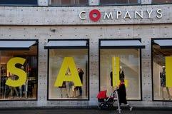50% 40% e 30% fuori dalla vendita alla catena di negozi della società Fotografia Stock Libera da Diritti