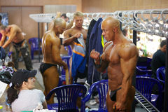 E.Gavrilchenko - bodybuilder on Championship Stock Photos