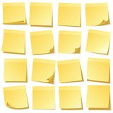 E Gelbes Papier r anzeige Vektor lizenzfreie abbildung