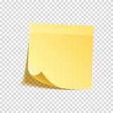 E Gelbes Papier r anzeige Vektor stock abbildung
