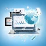 E-Geschäft Stockfoto