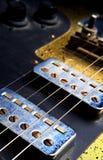 E-gitarr närbild Arkivfoto