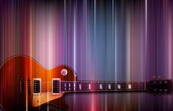 E-Gitarre auf buntem Hintergrund Lizenzfreies Stockfoto