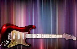 E-Gitarre auf buntem Hintergrund Lizenzfreie Stockfotografie