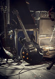 E-Gitarre auf Stadium Lizenzfreie Stockfotos