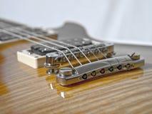 E-Gitarre Brücke Stockbilder