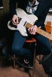E-Gitarren-Nahaufnahme Abbildung kann für verschiedene Zwecke benutzt werden Stockbild