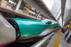 The E5(Green)/E3(White) High-speed trains combination. Stock Image
