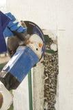 E grinder Bitande stålbarriär Royaltyfria Foton