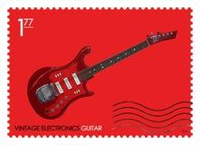 E Guitarra retra Fotos de archivo