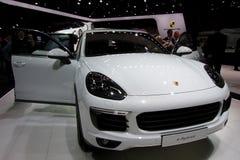 E-híbrido de Porsche nos carros de IAA Fotografia de Stock Royalty Free