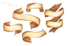 E Hand getrokken strepen of banners voor tekst vector illustratie