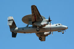 E-2 Hawkeye radarplane Royalty Free Stock Photo