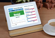 E-health information show on tablet Royalty Free Stock Photography