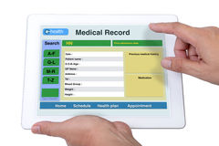 E-health information. Royalty Free Stock Image