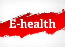 E-health Red Brush Abstract Background Illustration royalty free illustration
