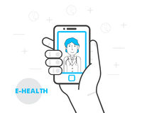 E-health and telemedicine concept. Royalty Free Stock Image