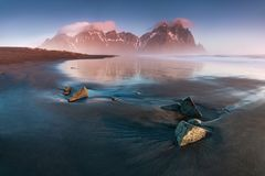 E iceland seascape arkivbild