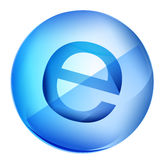 E icon Royalty Free Stock Image