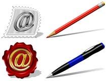 e ikon poczta pióra ołówek Fotografia Royalty Free