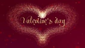 E Il cuore di San Valentino fatto della spruzzata del vino rosso sta comparendo r illustrazione vettoriale