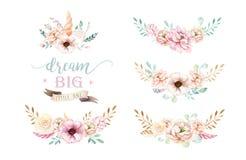 E Illustrazione degli unicorni della scuola materna r trendy royalty illustrazione gratis