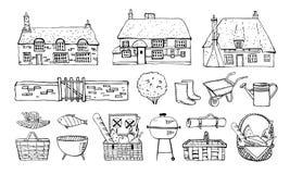 E Illustrazione disegnata a mano del profilo di schizzo di vettore royalty illustrazione gratis