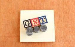 E impuesto de los bienes y servicios y x28; GST& x29; Concepto Fotografía de archivo libre de regalías