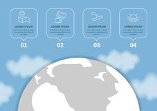 E Infographic设置了与图和其他元素 r 皇族释放例证