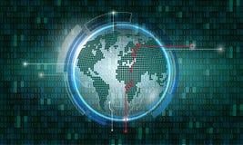 E Innovatie en biometrieconcept stock illustratie